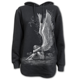 Enslaved Angel - Ladies Dipped Hem Oversized Hoodie
