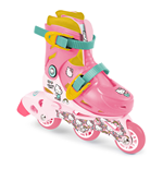 HELLO KITTY Club Children's Tri-to-Inline Skates, Size 9 to 11.5 UK, Girl, Ages Three Years and Above, Pink/White