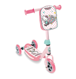 HELLO KITTY Club Children's Three Wheel Tri-Scooter with Removable Bag, Girl, Ages Two to Five Years, Pink/White