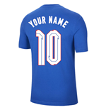 2020-2021 England Nike Evergreen Crest Tee (Blue) - Kids (Your Name)