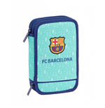 FC Barcelona pencil case double filled turquoise