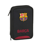 FC Barcelona pencil case double filled black