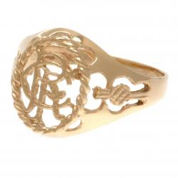 Rangers FC 9ct Gold Crest Ring X-Small