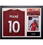 Liverpool FC Mane Signed Shirt (Framed)