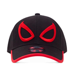MARVEL COMICS Spider-Man Minimal Eyes Baseball Cap, Unisex, Black/Red