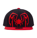 MARVEL COMICS Spider-Man Spider Arch Logo Snapback Baseball Cap, Unisex, Black/Red