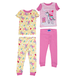 Peppa Pig Mermaid All Over Print 4-Piece Pajama Set