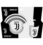 Gift set with a flat plate a soup plate and a Mug Juventus