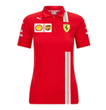 2021 Ferrari Womens Team Polo Shirt (Red)