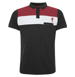 Liverpool FC Colour Block Polo Mens Charcoal L