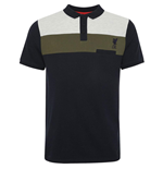 Liverpool FC Colour Block Polo Mens Navy M