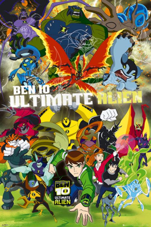 Official Ben 10 Ultimate Alien Cast Maxi Poster Buy Online On Offer