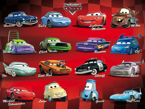 Official Cars Characters Mini Poster Buy Online On Offer