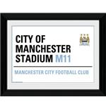 "Manchester City Street Sign Framed 16x12"" Photographic Print"