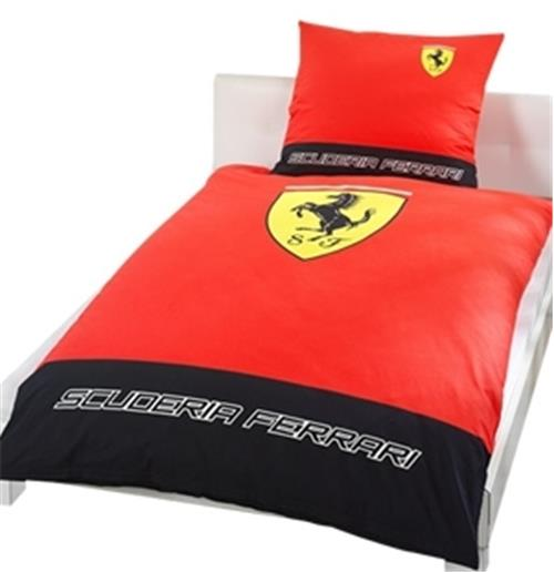 Bed Linen Set Single Clic Logo Ferrari