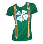 Shamrock Suspenders St. Patrick's Green Juniors Graphic TShirt