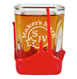MAKER'S MARK Whisky Red Wax Square Shot Glass