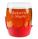 MAKER'S MARK Rounded Rocks Waxed 9 oz. Glass