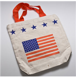 PATRIOTIC USA American Flag Stars Stripes Tote Bag