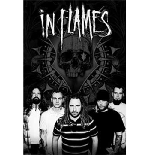 In Flames-B/W Group-Poster