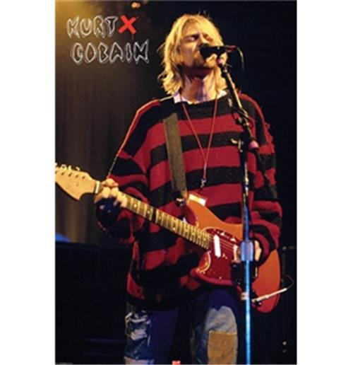 Kurt Cobain-Singing-Poster