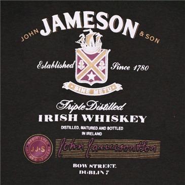 jameson whiskey triple distilled logo black graphic tee