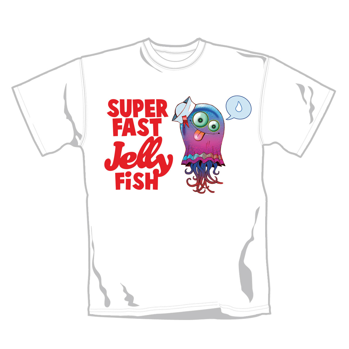 Gorillaz T Shirt Jellyfish. Emi Music officially licensed t-shirt.