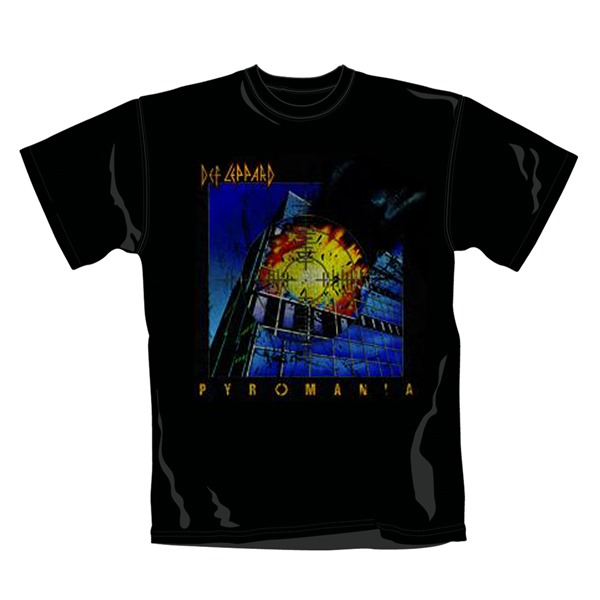 Def Leppard T Shirt Pyromania. Emi Music officially licensed t-shirt.