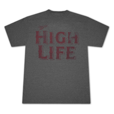 Miller High Life Retro Vintage Style Heather T Shirt For