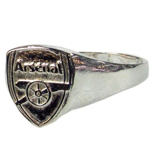 Arsenal F.C. Silver Plated Crest Ring Medium