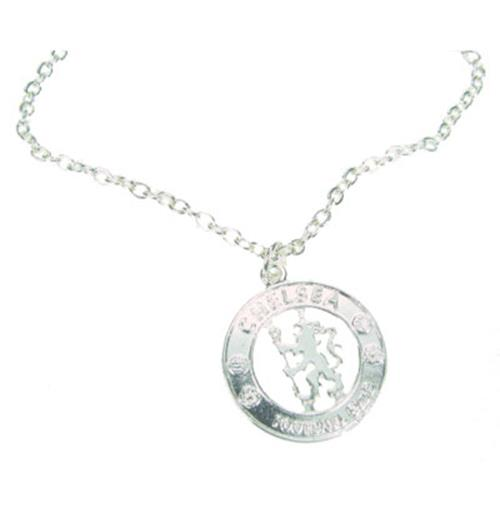 Chelsea F.C. Silver Plated Pendant and Chain CR