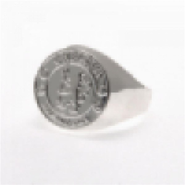 Chelsea F.C. Silver Plated Crest Ring Small