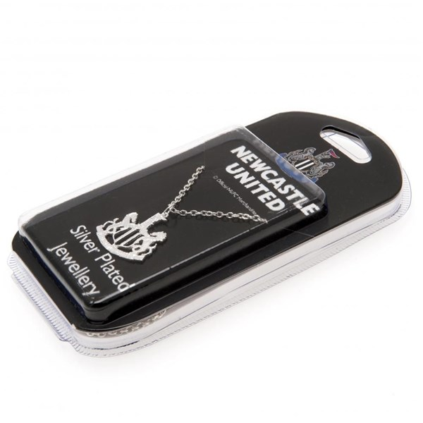 Newcastle United F.C. Silver Plated Pendant and Chain