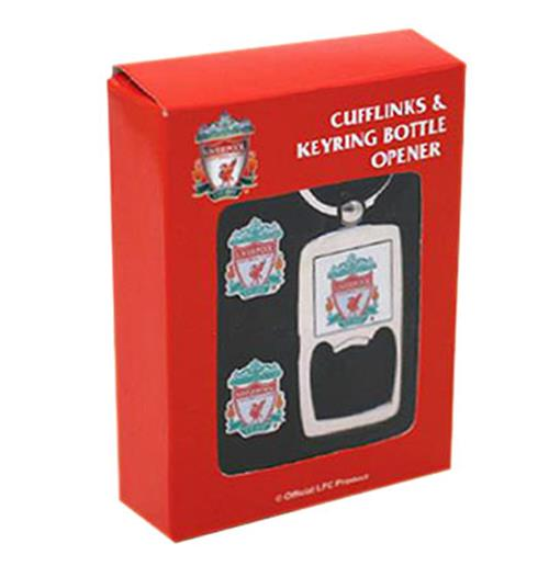 Liverpool F.C. Cufflinks and Keyring Bottle Opener Set
