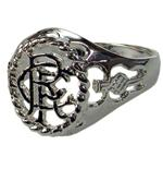 Rangers F.C. Silver Plated Crest Ring Small