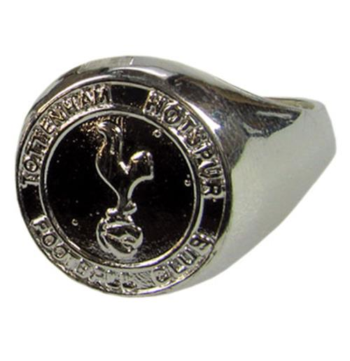 Tottenham Hotspur F.C. Silver Plated Crest Ring Large