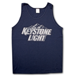 KEYSTONE LIGHT Faded Design Dark Blue Mens Tank Top