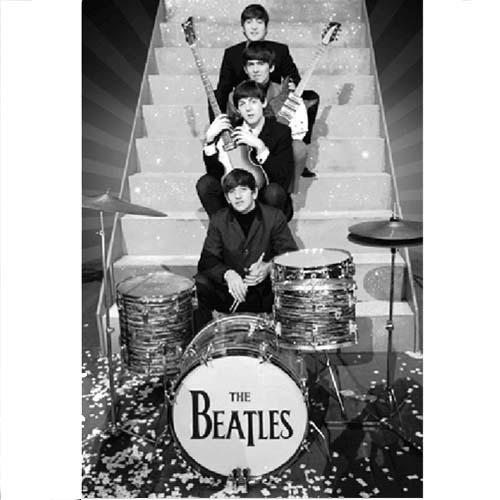 Beatles 3D Poster Design On Stage