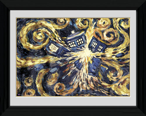 Doctor Who Exploding Tardis Framed Photographic Print