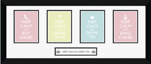 Keep Calm Girls Framed Photographic Print