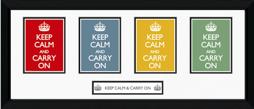 Keep Calm  Framed Photographic Print