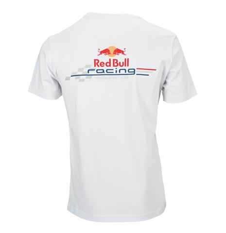 Red bull race t shirt logo rb white for only at for Red bull logo shirt