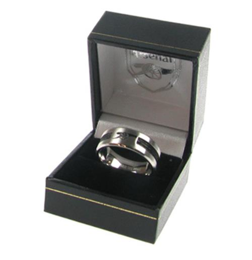 Arsenal F.C. Black Inlay Ring Small