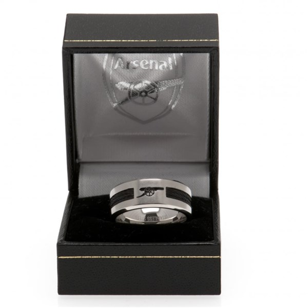 Arsenal F.C. Black Inlay Ring Large