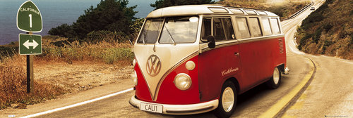 VW Californian Camper Route One Door Poster