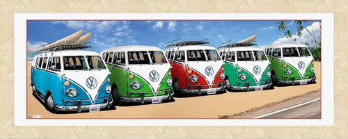 VW Californian Camper (Beech) Framed Photographic Print