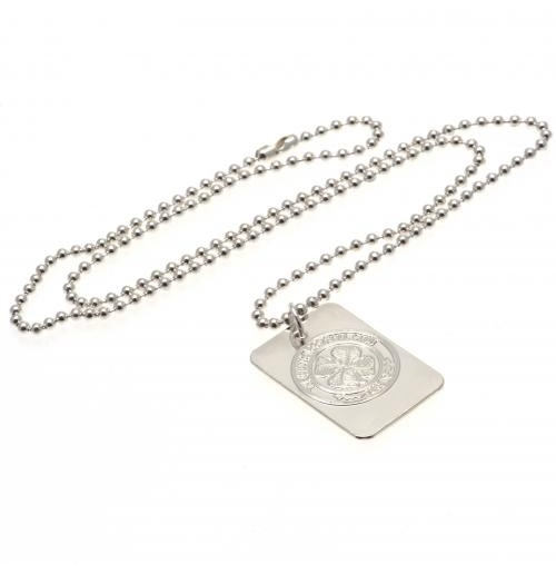 Celtic F.C. Silver Plated Dog Tag and Chain