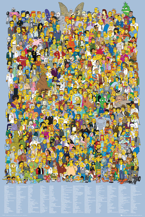 The Simpsons Cast 2012 Maxi Poster