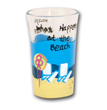 What Happens at the Beach Shot Glass