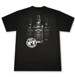 Jack Daniel's Triple Bottle T Shirt Black